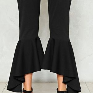 Lulus High Low Black pants